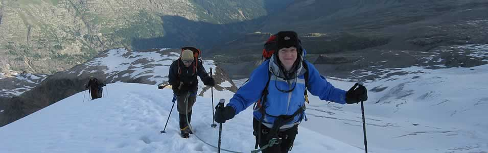 on the ascent of Gran Paradiso