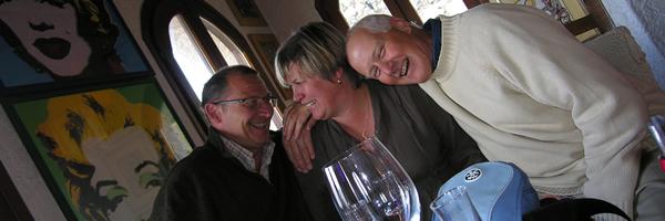 Luc, Christine and Mel