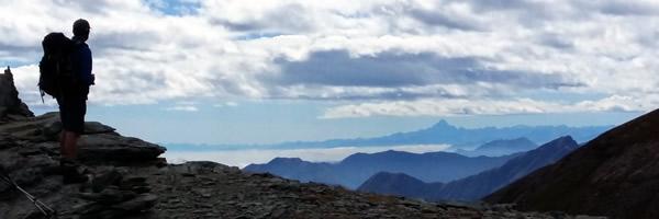 Gran Paradiso Trek 2017. Looking back towards Monte Viso.