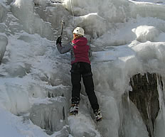 ice climbing in the Alpes Maritimes